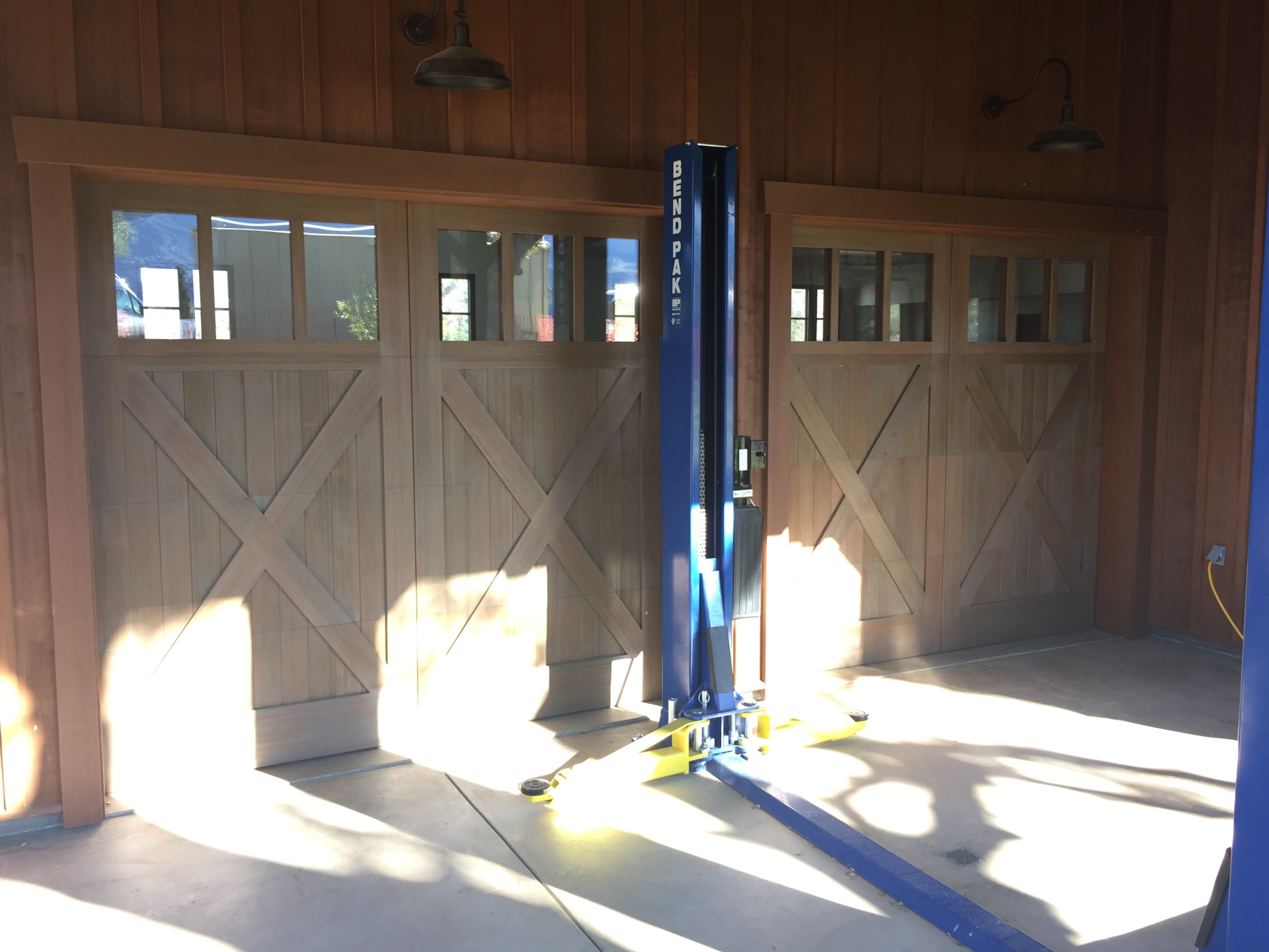 Carriage House Doors custom wood doors with custom track